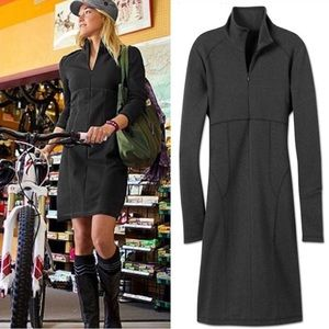 Athleta | Long Sleeve Cassidy Work Out Black Dress